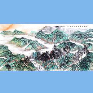 河南省美协会员,河南国家画协会会员,中原文化艺术研究院理事刘辉(绿水青山就是金山银山)