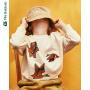 【限时2件3折价:48】迷你巴拉巴拉儿童上衣男宝宝2019秋装新品男童长袖套头圆领卫衣