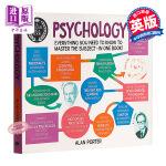 【中商原版】Degree in a Book: Psychology 英文原版 心理学入门教程