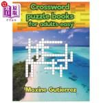 【中商海外直订】Crossword puzzle books for adults easy Relaxing Puz