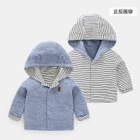 婴儿衣服外套 新生儿秋冬女宝宝男童儿童幼儿3上衣1岁