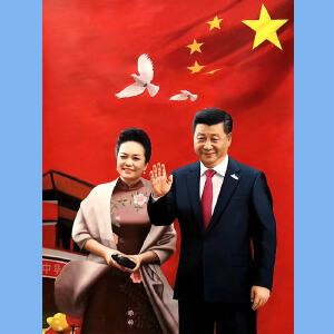 著名油画艺术家,福建省油画艺术协会常务理事曾新伟(习总书记和*)2