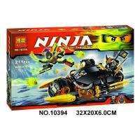 欢乐童年-兼容乐高式幻影忍者10395锁链伏击车Ninjago 寇的武装重机车六连发10394 积木玩具益智男孩