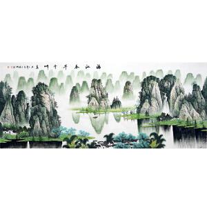 中国美协会员,中国书协会员,龙云书画院院长侯桂峰(漓江春早1)13