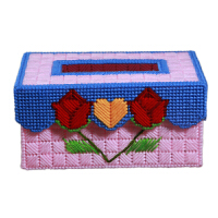 3D十字绣新款客厅手工DIY纸巾盒立体绣抽纸盒收纳盒图画钻绣 已裁剪【买,拍3个】