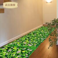 3D立体地板贴创意拼接地贴墙贴纸防水自粘贴画可移除瓷砖贴三叶草SN6953 3D三叶草 大