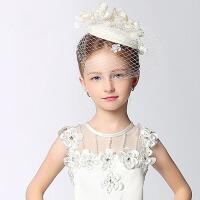 女童派对公主晚会主持儿童礼服头饰演出儿童公主小礼帽发饰