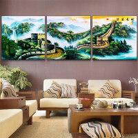 中国风超大幅横版万里长城装饰画客厅挂画沙发背景墙壁画中式墙画 FDS006 70*70 24mm厚板 拼套