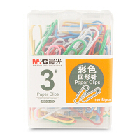 M&G晨光 ABS91699 办公用3号彩色回形针PP盒装 当当自营