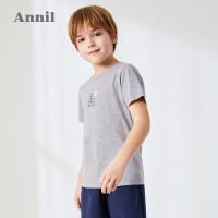 【3件3折价:59.7】安奈儿童装男童睡衣套装2020夏季新款纯棉中大童短袖家居服两件装