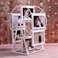 旋转相框 婚纱儿童摩天轮相框洗照片摆台相片框创意架5寸挂墙7寸旋转大风车
