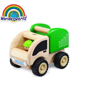 [当当自营]泰国Wonderworld 小小环卫车 木质玩具车