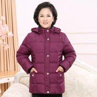 中老年羽绒服女短款加厚加大码宽松中年妈妈装冬季保暖奶奶外套