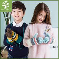 新款儿童手套冬小学生手套男童女童加厚保暖手套时尚3-12岁潮