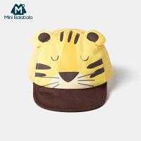 迷你巴拉巴拉婴儿帽子2020夏季男童老虎女童兔子动物造型可爱超萌
