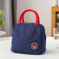 带饭的手提袋子饭盒袋上班饭包大号保温袋铝箔加厚午餐便当包 升级款- 蓝色小号
