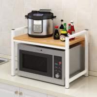 厨房置物架调料收纳架烤箱台面双层多功能微波炉架子用品家用大全