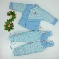 秋冬新款手工宝宝背带儿童加厚棉衣包脚套装童棉衣