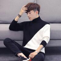 秋冬季高领毛衣男韩版宽松男士针织衫潮流个性学生帅气线衣外套男