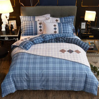 自然醒商场同款加厚简约全棉磨毛床上四件套棉床单被套1.52米床家纺床品套件