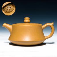 宜兴紫砂壶手工原矿名家全手工套装球孔泡茶壶茶具老紫泥柱础壶