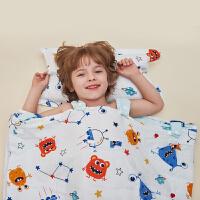 龙之涵儿童睡袋春秋薄款宝宝中大童防踢被防踢纱布睡袋四季通用被子可水洗被式