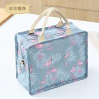 家用日式手提饭盒包防水女包手拎便当包饭盒袋带饭的帆布铝箔保温袋子SN7452