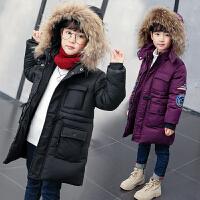儿童冬季棉衣2018新款女孩中长款棉服加厚外套潮