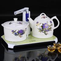 抽水茶具陶瓷茶壶三合一套装自动上水电热水壶烧水保温一体饮水机
