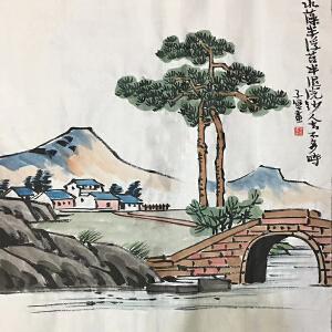 已故中国近现代画家,美术教育家,漫画家,作家,书法家(水藻半浮)53
