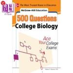 【中商海外直订】McGraw-Hill Education 500 College Biology Questions