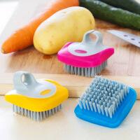 瓜果蔬菜清洁刷厨房用刷家居用品多功能水果清洗工具刷子 图片色