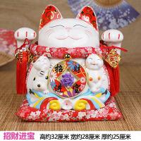 招财猫摆件招财猫大号日本陶瓷储蓄罐存钱罐开业创意礼品