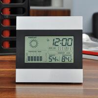 电子温度计家用室内精准电子温湿度计表高精度钟室温计婴儿壁挂式