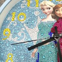 十字绣钟表客厅新款 钻石画满钻钟表卡通哆啦A梦客厅卧室钻石绣十字绣挂钟贴钻画