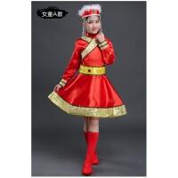 新款少数民族少儿童蒙族舞蹈裙幼儿园蒙古服六一表演出服装男女童