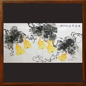 花鸟画《福禄满堂》李东明R4815 实力派老艺术家