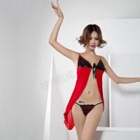 情趣内衣浪漫连体衣吊带文胸蕾丝性用品11133 裙装+T裤 均码