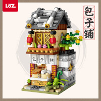 LOZ/俐智小颗粒拼装积木玩具益智迷你中华商业街景拼插国风酒馆街