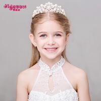 儿童皇冠发饰头饰韩式女孩公主发箍头饰花童王冠头箍表演饰品