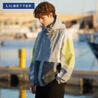 Lilbetter男士夹克2020新款春秋装外衣潮牌外套男连帽帅气冲锋衣