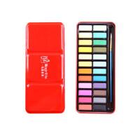 马格利特24色固体水彩颜料套装红铁盒36色写生初学练习水彩画颜料