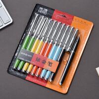 正品英雄钢笔007经典老款学生 铱金笔 墨水笔 练字书法钢笔 老式钢笔 10支装