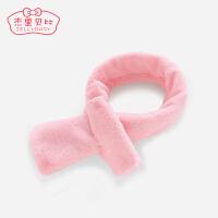 儿童围脖0-6岁脖套加绒婴儿毛绒秋冬保暖女宝宝围巾