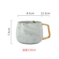 英式下午茶具女士咖啡杯碟套装带盖勺欧式小简约杯子陶瓷套具
