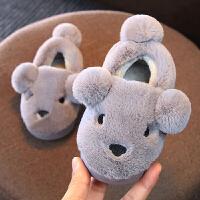 宝宝棉拖鞋儿童冬季1-3-6岁保暖包跟棉鞋室内亲子拖鞋