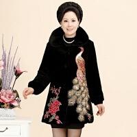 中老年女装秋冬装中年妇女妈妈装棉衣加肥加大外套