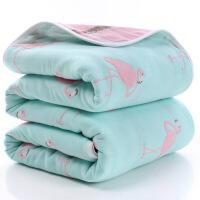 六层纱布浴巾 110*110纯棉40支儿童毛巾被宝宝浴巾新生儿盖被