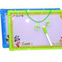 晶晶 6201-1写字板儿童幼儿磁性白板学生可挂式白板送磁珠笔擦晶晶白板双面写字板磁性留言板涂鸦画画板挂式白板益智玩具