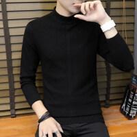 男士毛衣青年套头针织衫韩版潮学生半高领打底衫男线衣春秋季男装